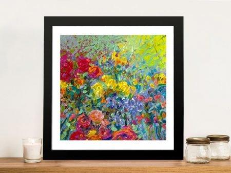 Clay Flowers Iris Scott Framed Flower Picture Art Australia