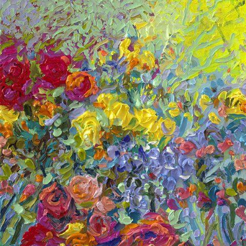 Iris Scott Framed Flower Picture Art Australia