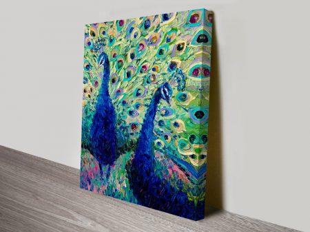 Gemini Peacock Art by Iris Scott