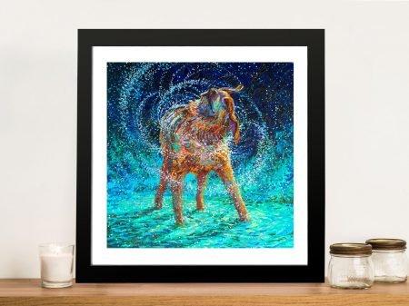 Old Rem Shaking Dog Framed Wall Art