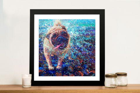 Queen Elizabeth Iris Scott Pug Framed Wall Art