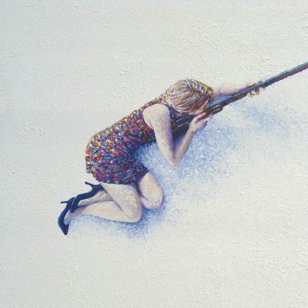 Snow Sniper Iris Scott Canvas Wall Art
