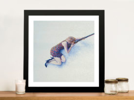 Snow Sniper Framed Wall Art