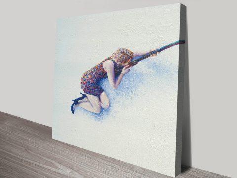 Snow Sniper Wall Art Iris Scott Finger Painting