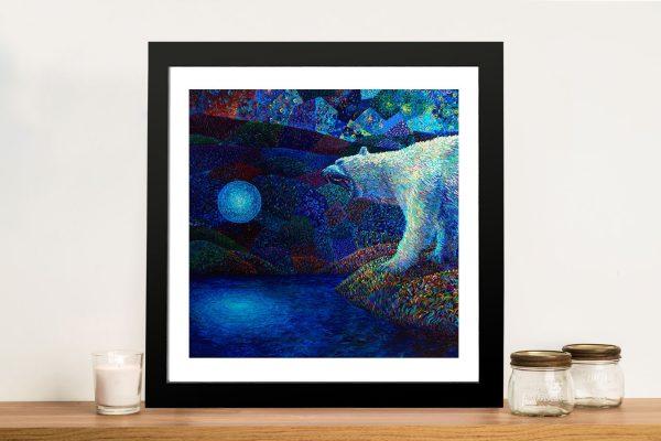 To Melt the Veil Polar Bear Art Iris Scott