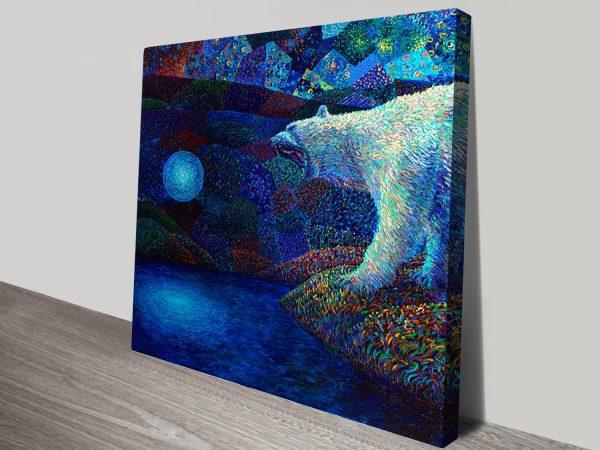 Iris Scott Finger Painting Canvas Picture Print