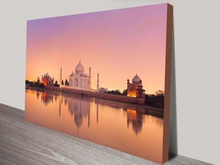 Taj Mahal Lake canvas print