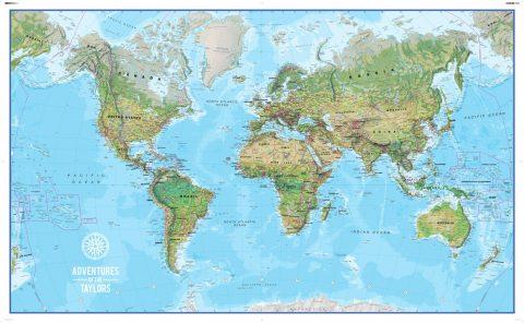 Personalised Adventure Push Pin World Map Art