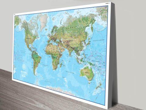 Custom push pin world map canvas art print sydney australia gumiabroncs Gallery