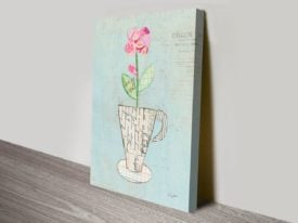 Teacup Floral III Canvas Art