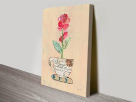 Teacup Floral IV Canvas Art