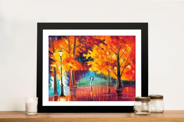 Autumn of Passion Leonid afremov Framed Wall Art