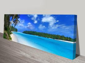 Amazing Beach Long Canvas Wall Art