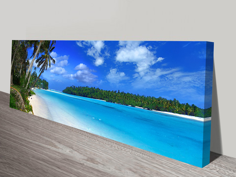 Amazing Beach Long Canvas Wall Art Panoramic Print