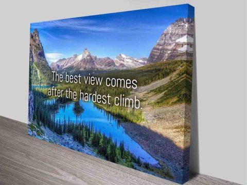 the best view inspirational canvas print australia
