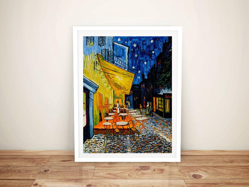 The Cafe Terrace Vincent Framed Wall Art Print