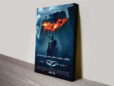 The Dark Knight Movie Poster Canvas Print