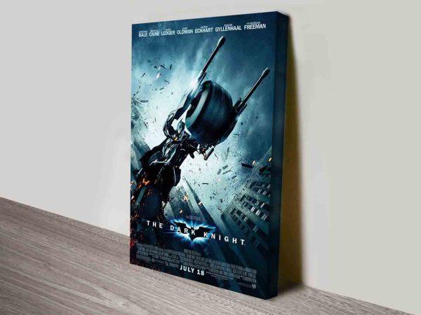 The Dark Knight Movie Poster on Canvas