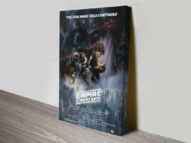 The Empire Strikes Back Movie Poster Canvas Print