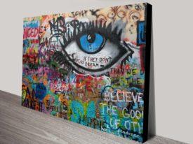 Graffiti Wall Prints Stretched Canvas Australia