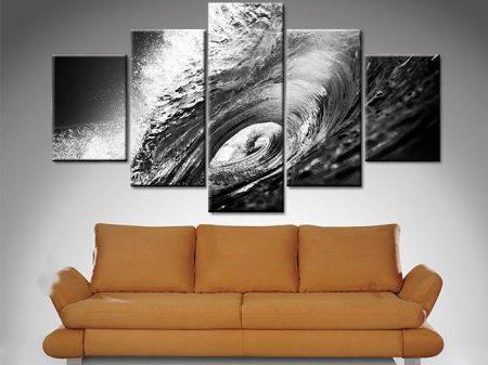 the hook 5 panel wall art print on canvas australia