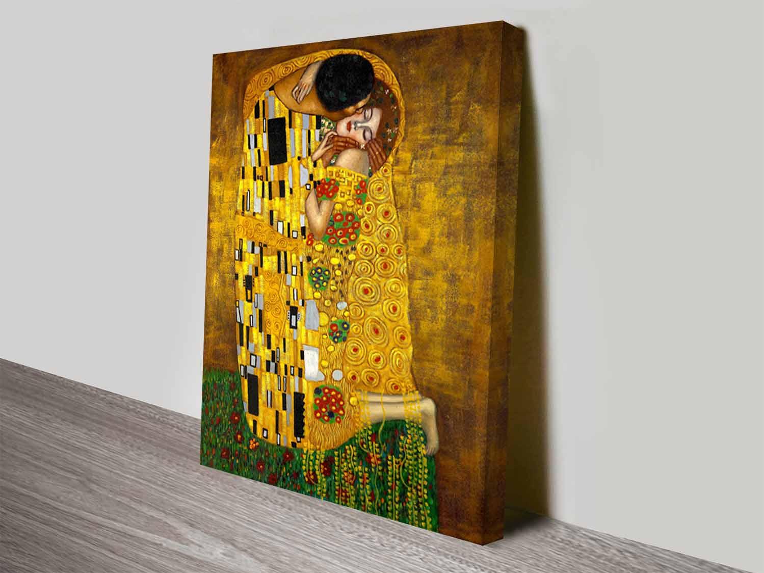The-Kiss-By-Gustav-Klimt-Classical-Wall-Art-On-Canvas - Blue Horizon ...