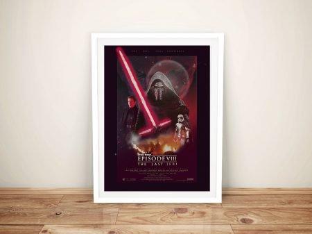 The Last Jedi Poster Framed Wall Art Australia