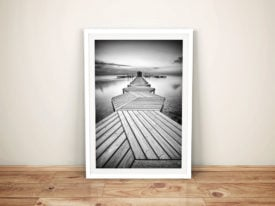The Linear Path Abstract Black & White Framed Wall Art