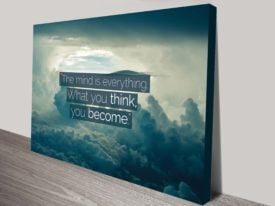 the mind inspirational quote canvas print australia