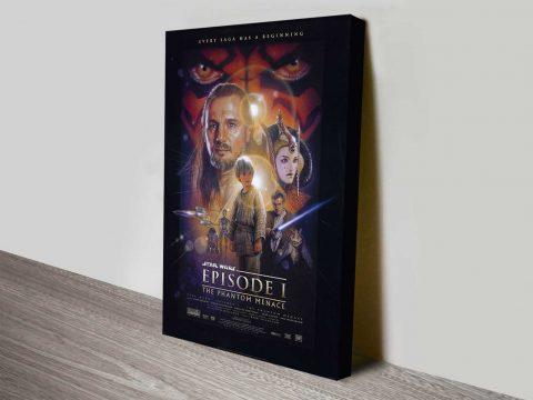 Phantom Menace Movie Poster on Canvas
