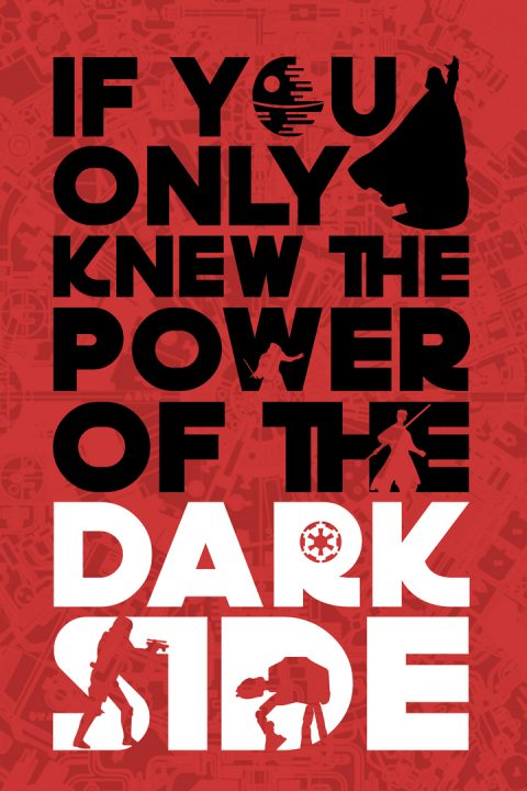 The Power of the Dark side Star Wars Art