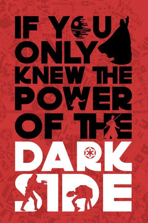The Power of the Dark side Star Wars Art