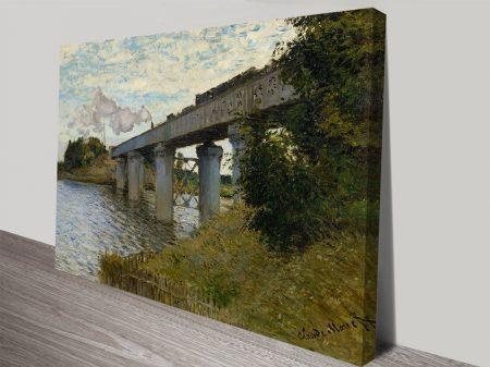 The Railway Bridge at Argenteuil Classic Art Canvas