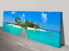 The Tropical Island Panorama Wall Art