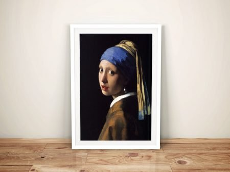 The Girl With The Pearl Earring Framed Wall Art