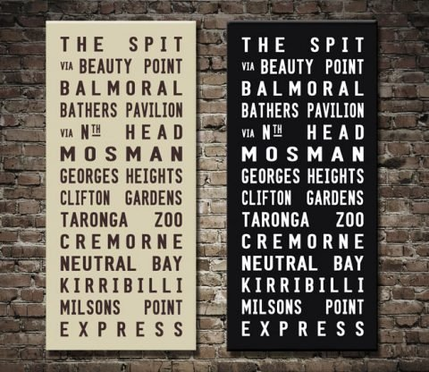 The Spit Tram Scroll Personalised Gifts