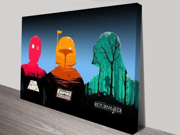 Three Legends of Star Wars Wall Art