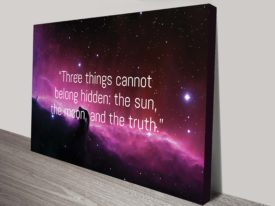 three things cant belong inspirational quote wall art canvas