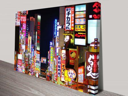 Tokyo at Night Wall Canvas Art Print