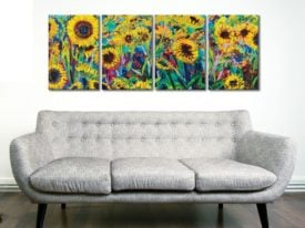 Tournesol 4 Panel Iris Scott