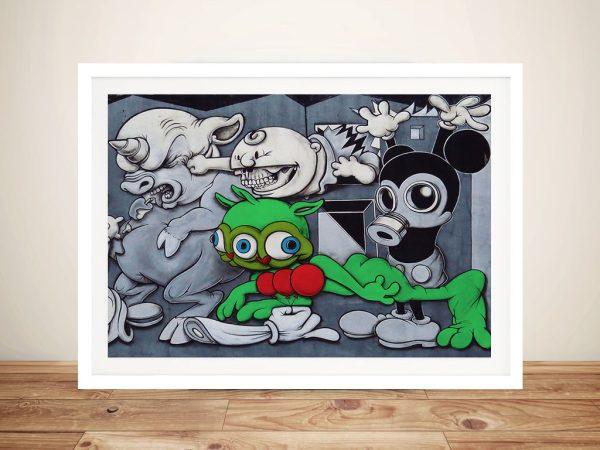 Toxic Mickey Mouse Street art Framed Wall Art
