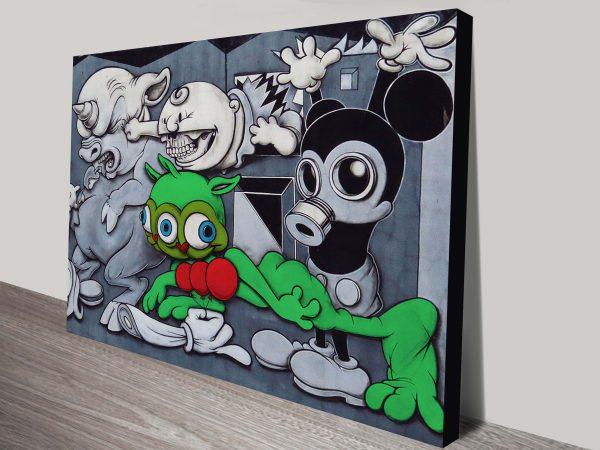toxic mickey mouse street art