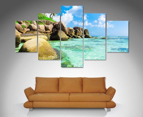 Tropical Paradise 5 Panel Print