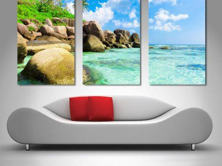 Tropical Paradise Triptych Canvas