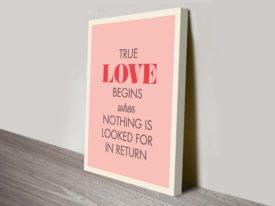 True Love Begins Inspirational art