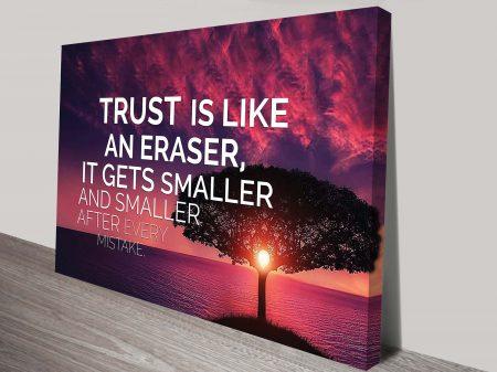 trust wall pictures canvas art australia