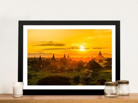 Tung Pagoda in Myanmar Wall Art Print