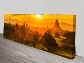 Tung Pagoda in Myanmar panoramic canvas print