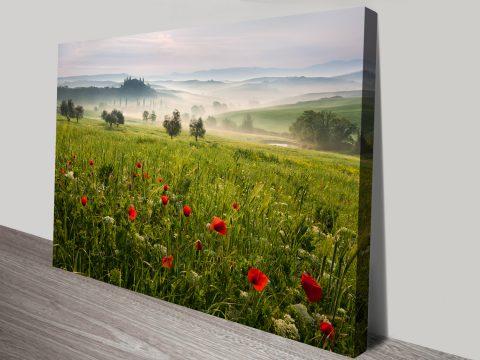 Tuscan spring photo canvas art print