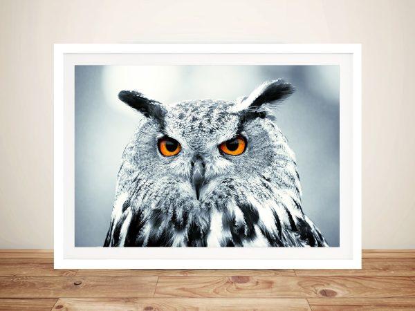 Snowy Owl Photo Canvas Art Prints